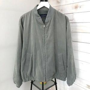 London Fog Grey Jacket Size Large